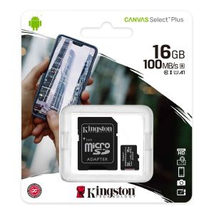 Kingston Carte MicroSD 16Go CANVAS Select Plus